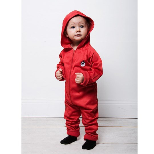 Mini Rodini Onesie WCT Red Red