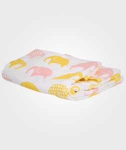 Image of Littlephant Blanket White/Yellow/Pink (2980467077)
