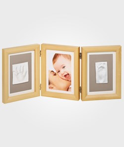 Baby Art Double Print Frame Natural