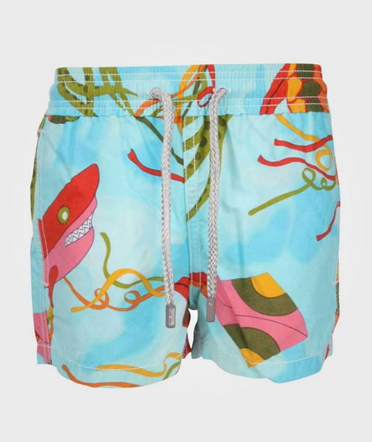 Vilebrequin Swimshorts Shark And Kite Blue