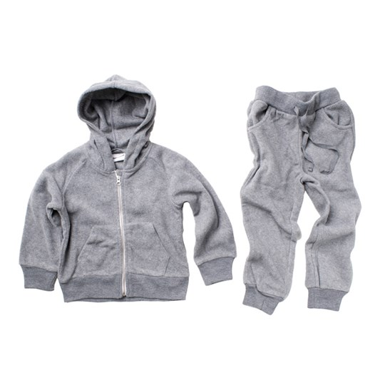 Mini Rodini Fleece Set Grey Grey