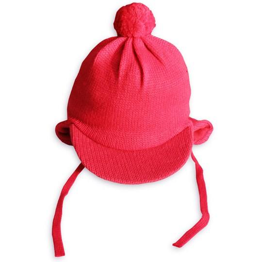 Mini Rodini Knitted Cap Red Red