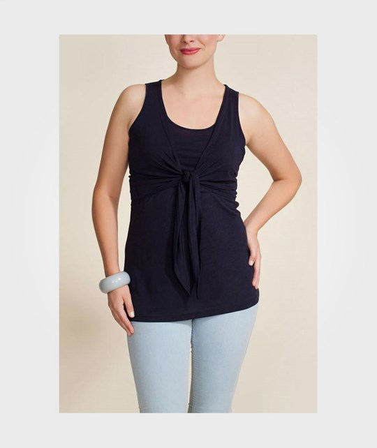 Boob Camisole Knot Front Navy Blue