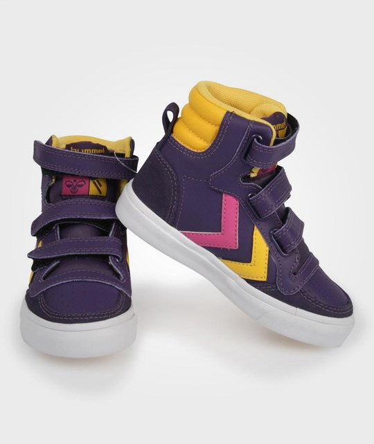 Hummel Stadil High Jr Velcro Purple Purple