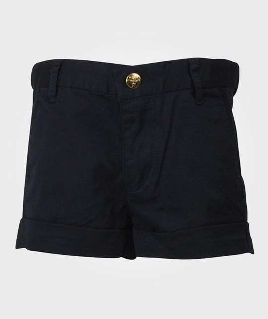 Mini Rodini Twill Shorts Navy Blue