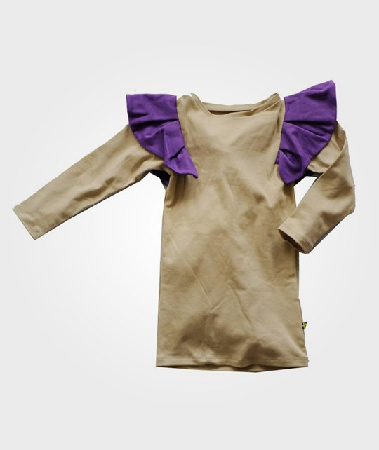 The BRAND Flounce Dress Khaki/Purple Purple
