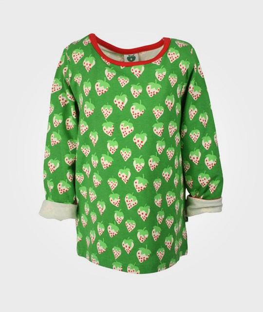 Småfolk T-Shirt Strawberries Green Green