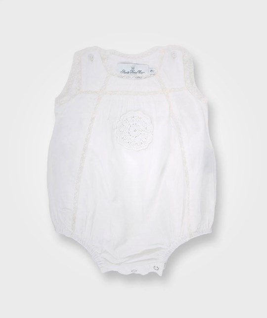 How To Kiss A Frog Tiny Romper White White