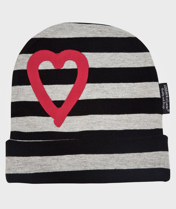 Striped Hat Black/Grey/Red