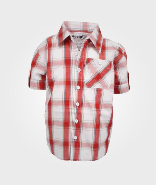 Rockefella Jude Checked Shirt Red Red