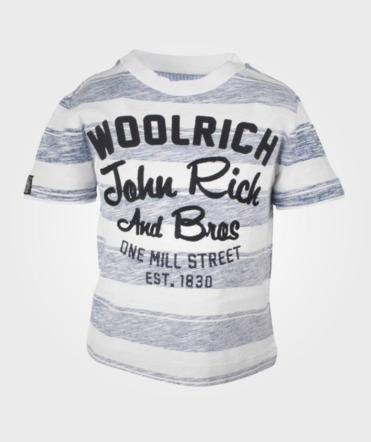 Woolrich Striped Flame Jersey Grey Multi