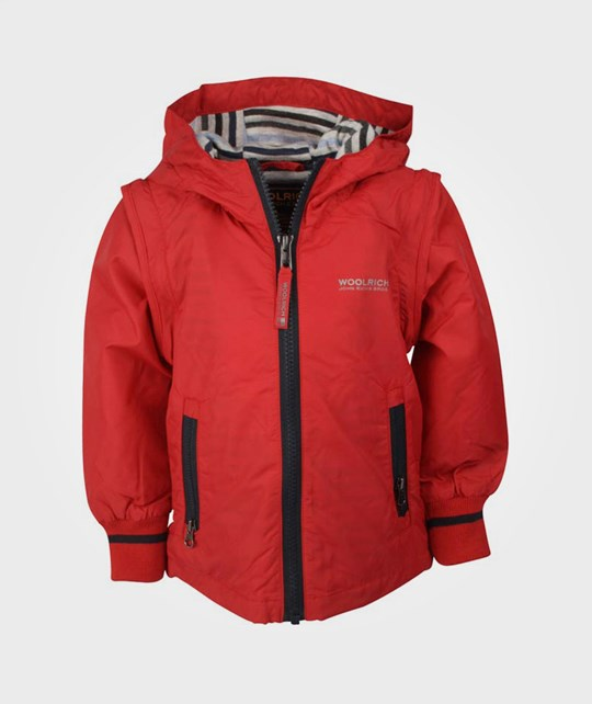 Woolrich Detachable Sleeve Jkt Red Red