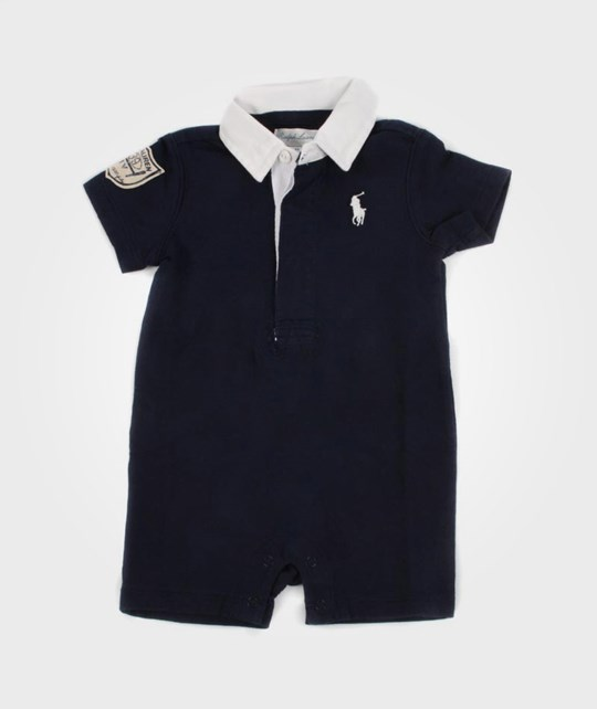 Ralph Lauren Quilted Rugby Navy Blue