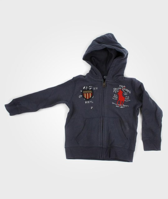 Ralph Lauren Full Zip Hoody Thatcher Blue Blue