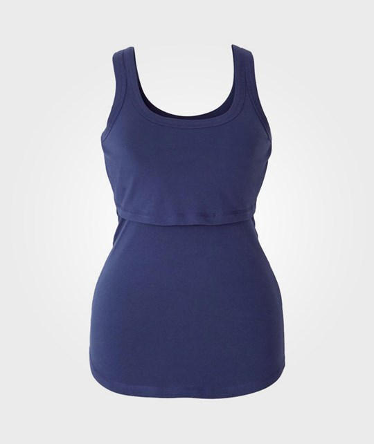 Boob Nursing Singlet Blueberry Blue