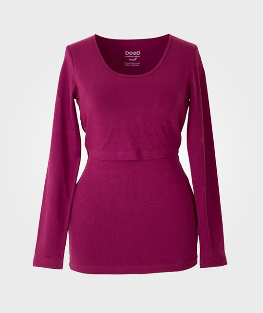 Boob N Top Long Sleeve Dark Fuchsia Violetti