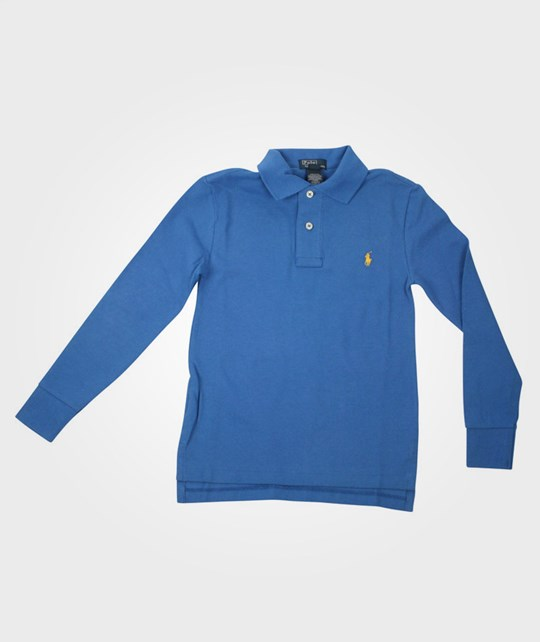Ralph Lauren L/S Polo Shirt Boysenberry Blue