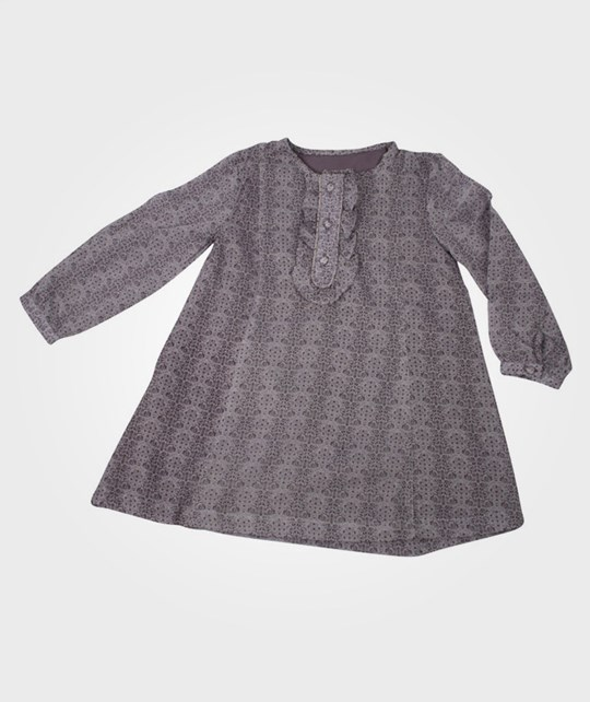 Wheat Ruffle Baby Dress LS Lavendel Purple