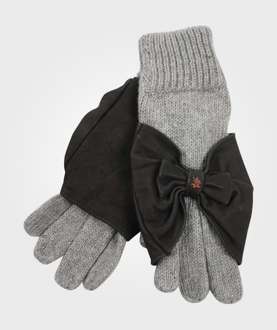 Scotch R'belle Grey Mittens Black