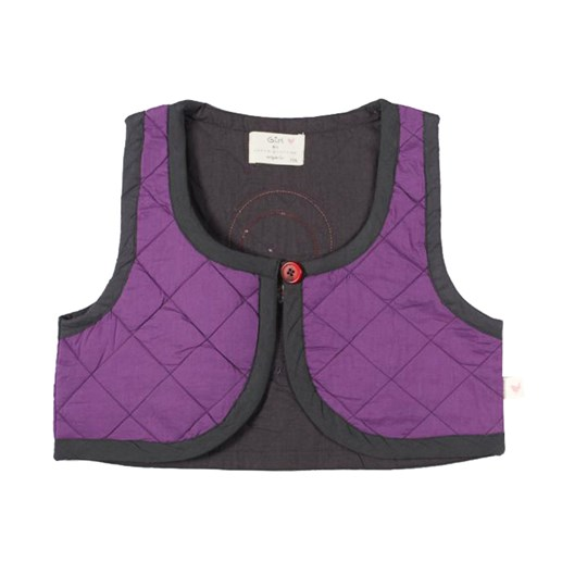Green Cotton Petruska Vest Purple
