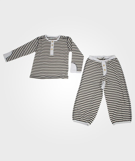 Wheat Grandad Pyjamas Navy Blue