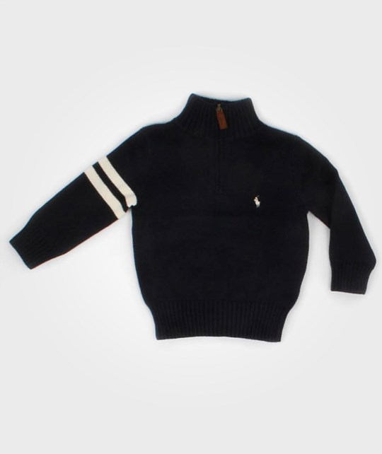 Ralph Lauren Genser Mock Neck Navy Blue