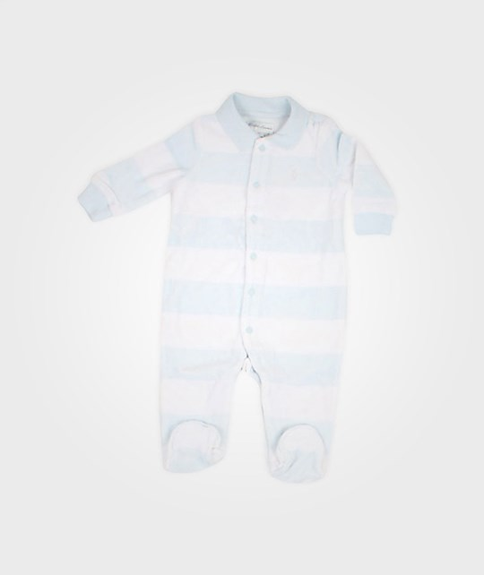 Ralph Lauren Boy Coverall Velour Pearl Blue Blue