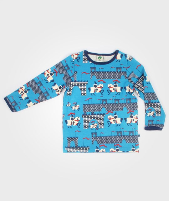 Småfolk T-shirt L/S Knights Turquoise Blue