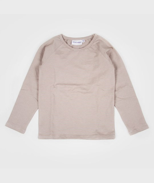 Mini Rodini Small Stripe Raglan Grey Musta