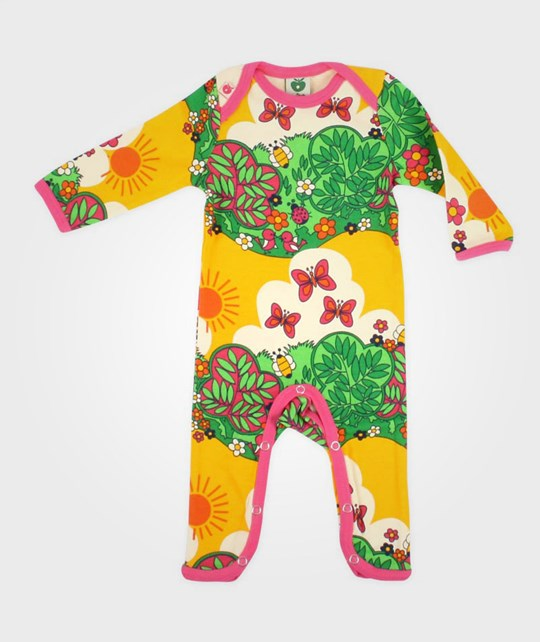 Småfolk Bodysuit Flowers And Insects Multi