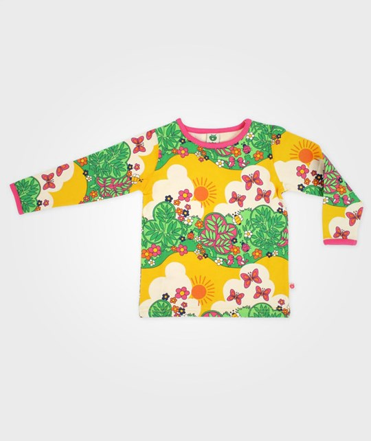 Småfolk T-Shirt L/S Flowers And Insects Multi