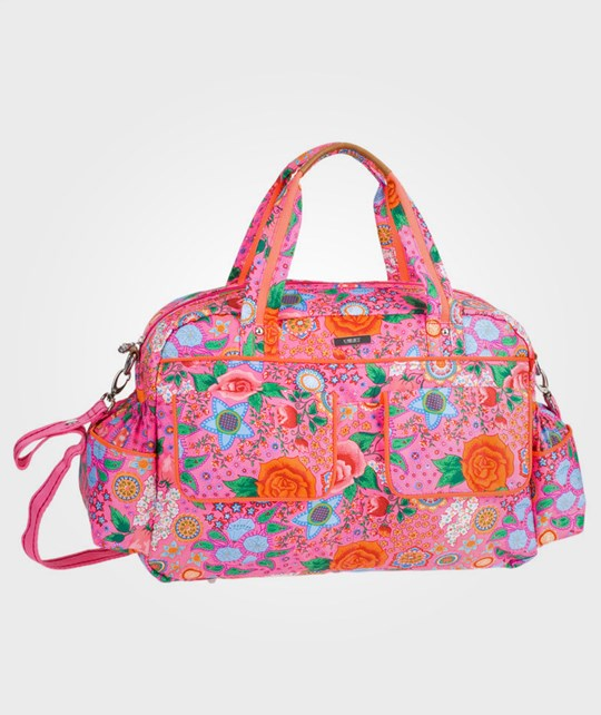 Oilily Classic Flower Diaper Bag Pink Multi