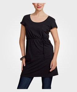 Boob Nursing T-shirt Dress Black