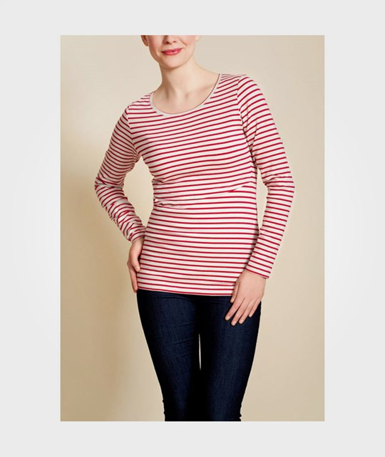 Boob Top Sailor Marseille Stripe Heart Bone/Heart Size S