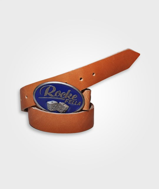 Rockefella Leather Belt BROWN