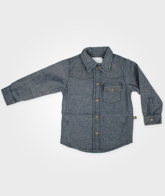 The BRAND Chambray Shirt Used Blue Blue