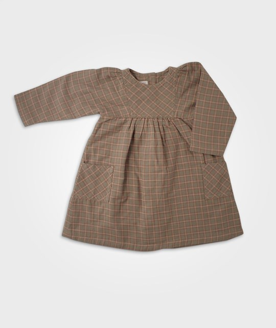 Petit Bateau Robe Checkered BROWN