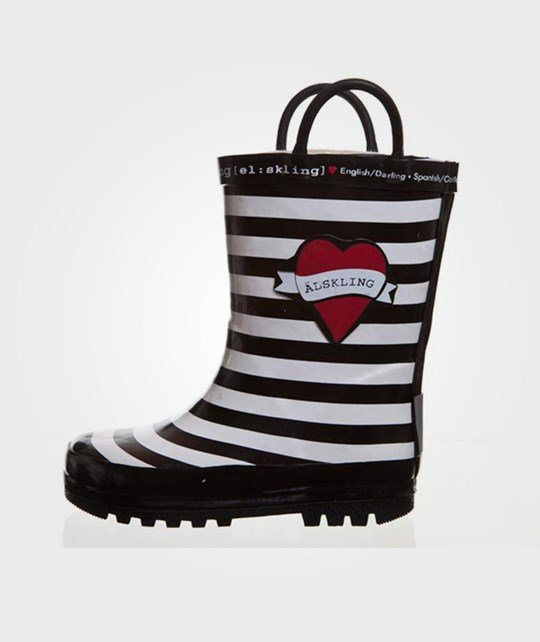 Lundmyr Of Sweden Rubber Boots Striped Black