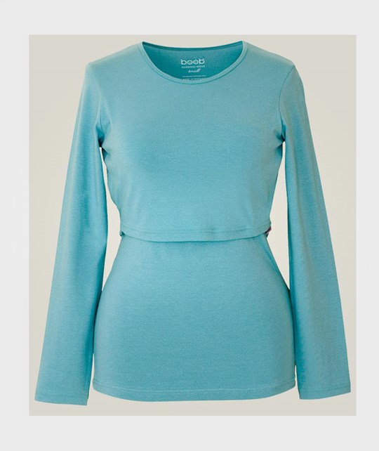 Boob Top LS  turquoise Turkos
