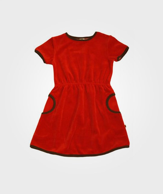 Småfolk Dress Plain Colored Red Red
