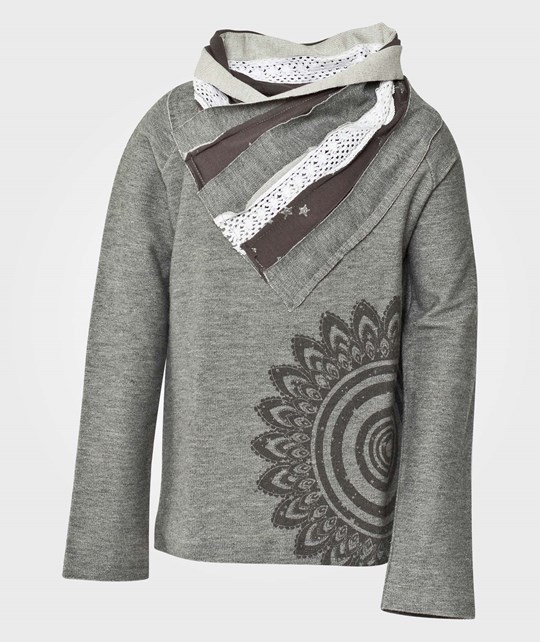 Desigual Sweat Colwood Gris Perla Sort