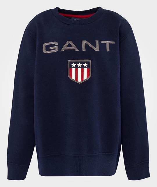 Gant W. Boy Gant Shield Crewneck Evening Blue Blue