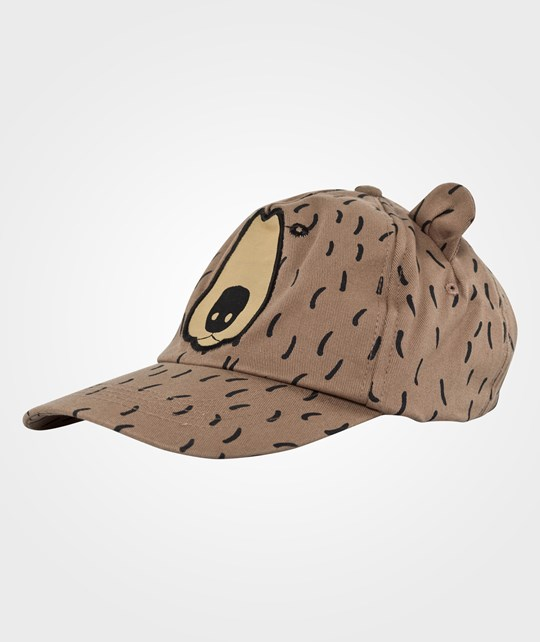 Mini Rodini Bear Emb Cap, Brown BROWN