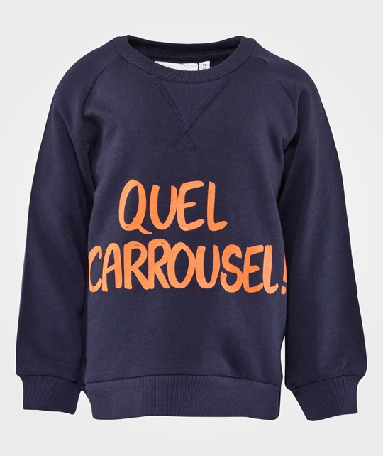 Mini Rodini Carrousel Sp Sweatshirt, Dk Blue Blue