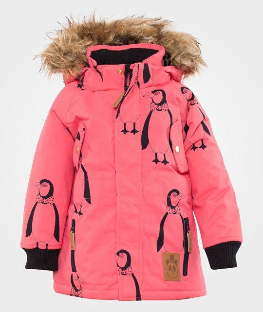 Mini Rodini Expedition Siberia Aop Jkt, Pink Pink