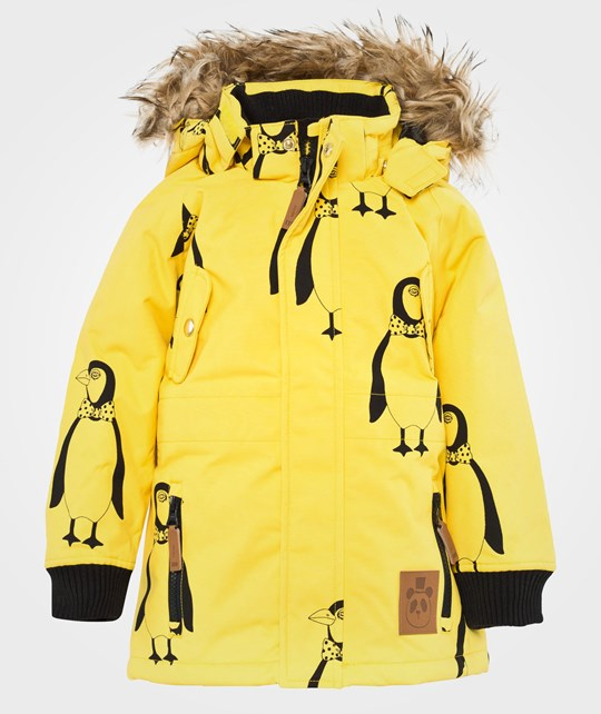 Mini Rodini Expedition Siberia Aop Jkt, Yellow Yellow