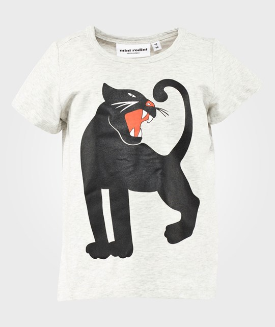 Mini Rodini Panther Sp Ss Tee, Grey Mel Grey