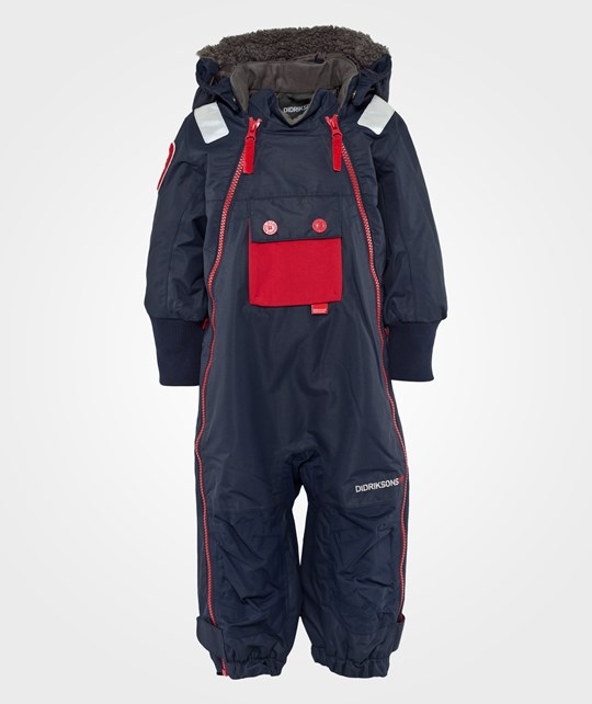 Didriksons Coso Coverall Navy Sininen