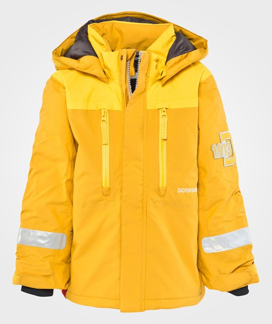 Didriksons Hamres Kids Jacket Honey Comb Yellow