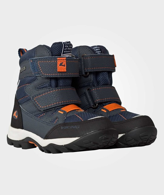 Viking Chilly II Velcro Gtx Navy/Orange Blue